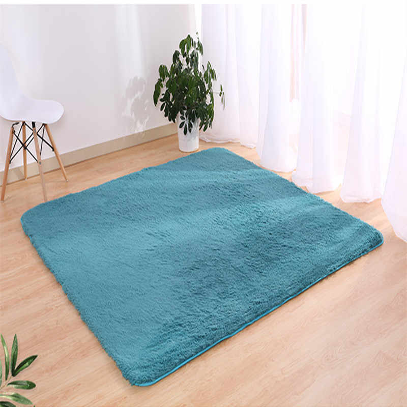 سجادة أرضية أوروبية حديثة طويلة من الحرير مانعة للانزلاق لطاولة غرفة المعيشة والقهوة سجادة لغرفة النوم سجادة سميكة مستطيلة
