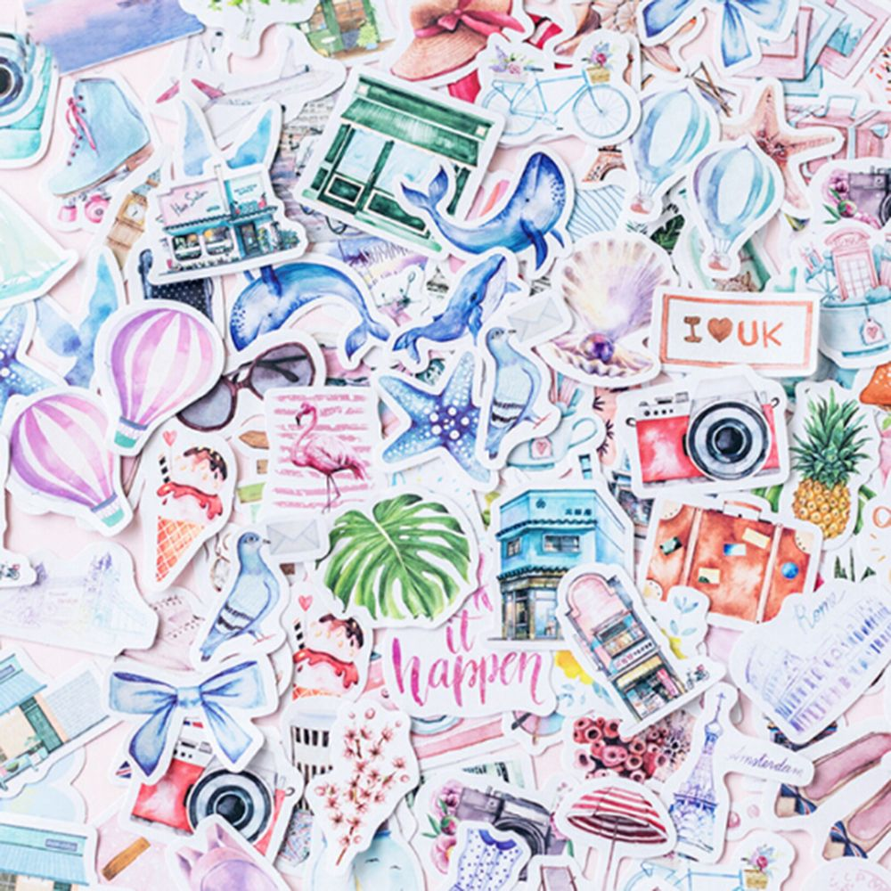 40PCS/PACK One Person Travel Decorative Stationery Stickers Scrapbooking Diary Album DIY  Sticky Lable