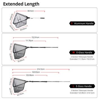 Best KastKing Folding Fishing Net Retractable 90cm,160cm,210cm Fishing Accessories cb5feb1b7314637725a2e7: Red|White|Yellow