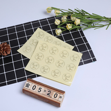 120Pcs/lot Transparent Round Bronzing Thank You Seal Stickers For Gift Bag DIY Sealing Lable Have High Quality