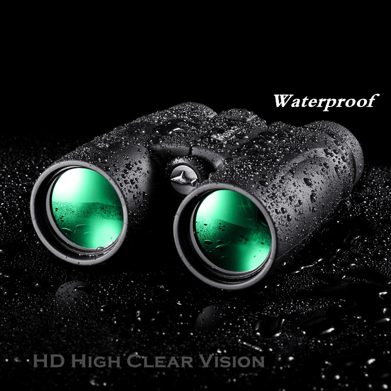 Binoculars Asika 10x42 High quality HD Military Telescope for Hunting and Travel Compact High Clear Large Vision Binocular Black asika military hd 10x42 binoculars professional hunting telescope zoom high quality vision eyepiece powerful compact waterproof