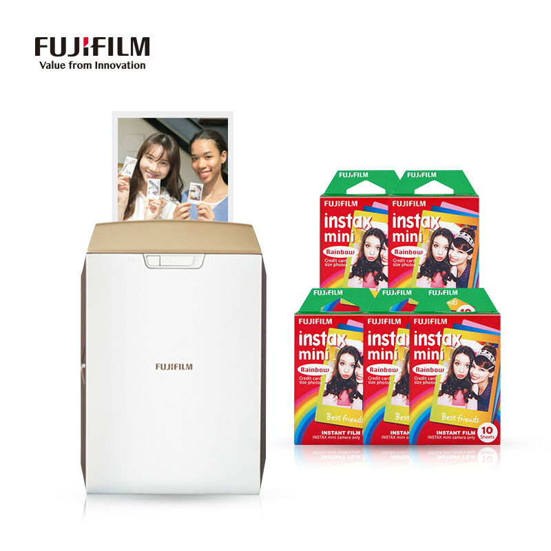 FUJIFILM Mini 8 Film Pocket Smart Mobile Phone Photo Printer WiFi Portable Instax Share SP-2 for iOS Android devices Smartphone 5 packs fuji fujifilm instax mini instant film monochrome photo paper for mini 8 7s 7 50s 50i 90 25 dw share sp 1 cameras