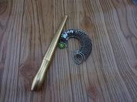 Free Shipping HK Hongkong SIZE Ring Finger Measuring Stick Scale Gauge Copper Ring Sizer Jewelry Testing