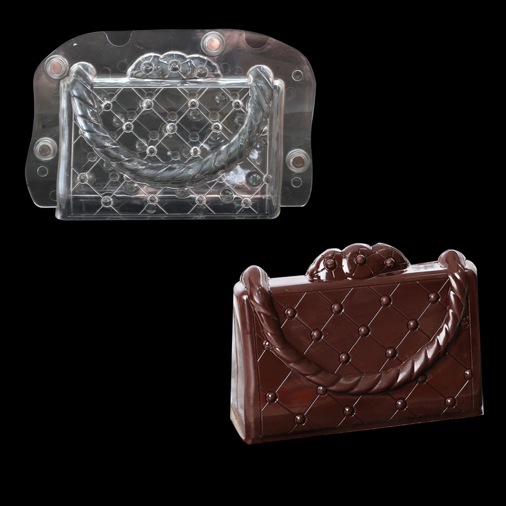 handbag shaped polycarbonate magnetic chocolate Molds cake decoration tools plastic molds