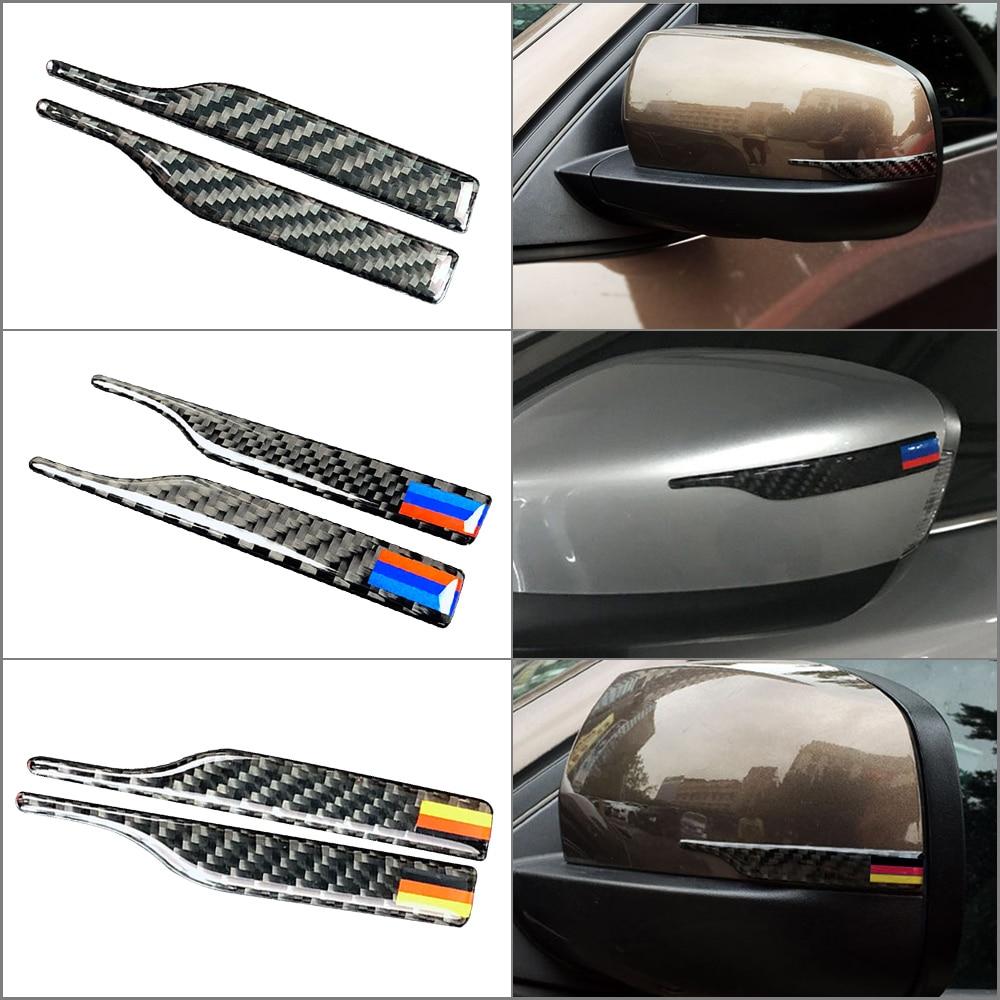 Карбоновое зеркало заднего вида против трения защитные полоски для BMW E90 E60 F30 F34 F10 F20 x1 x3 x4 x5 x6 автомобильная полоса предотвращения столкновений-in Наклейки на автомобиль from Автомобили и мотоциклы