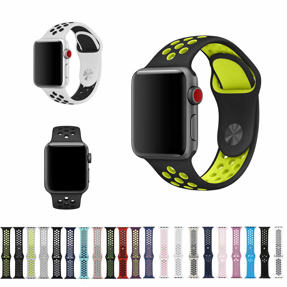 20 Colors Sport Band for Apple Watch Band 44mm 40mm 38mm 42mm Replacement Watch Strap for iWatch Bands Series 4 3 2 1