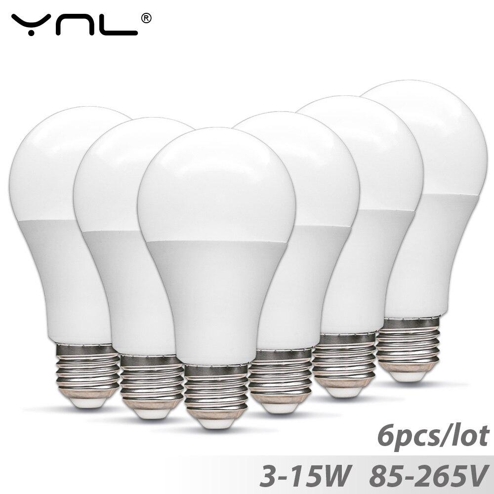 6pcs Lampada E27 Led Bulb 3W 5W 7W 9W 12W 85-265V Top Quality Ampoule Led lamp E27 220V 110V Bombillas led light bulb Spotlight