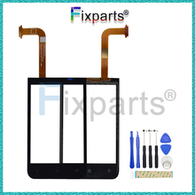 100% Tested  For HTC Desire 200 Touch Screen Panel Digitizer Glass Lens Sensor Repair Parts Replacement
