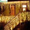Luces de navidad Al Aire Libre Decoración 3.5 m Droop 0.3-0.5 m Led Cortina de la Secuencia del Carámbano Luces de Año Nuevo Banquete de Boda guirnalda de Luz