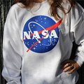 New Women NASA Printed Pullover Sweatshirt Loose Jumper Baseball Tee Tops Blouse S1