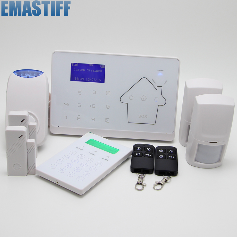 Android IOS APP Touch keypad GSM Alarm System PSTN Dual Net Alarm Systems Security