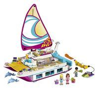lepin Girl Friend Series Sunny Yacht Assembly Building Blocks Brick Toy Sunshine Catamaran Dolphins Olivia Stephanie girl gift