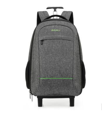 все цены на Travel Rucksack Bag wheeled backpack For Men Cabin Luggage Trolley bags with wheels Business carry on Rolling luggage suitcase онлайн