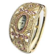 G & D New Luxury Brand Klockor Klockor Kvarts Armbandsur Guld Armbandsur Klockor Dam Klänning Klocka Relogio feminino Crystal Smycken