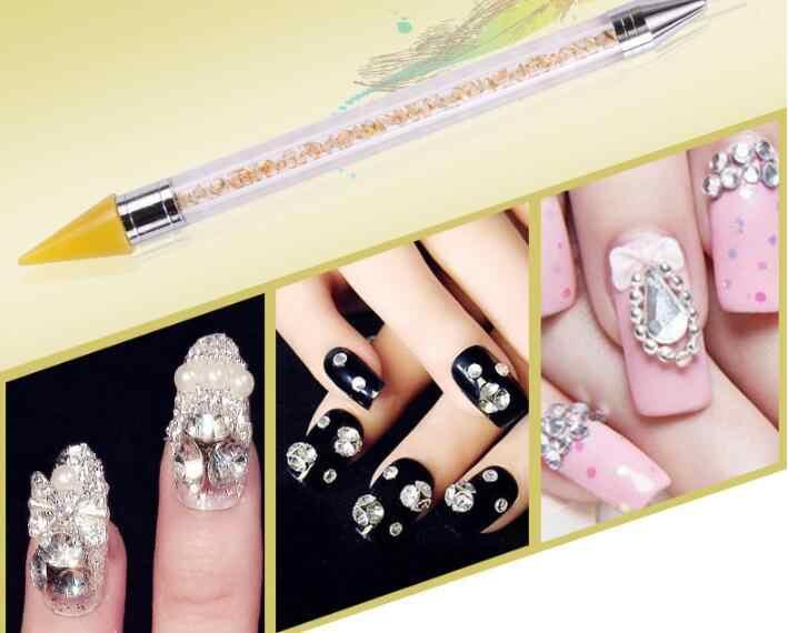 DIY الماس اللوحة القلم أدوات كامل مربع جولة الماس التطريز DIY أدوات الراين فسيفساء الصور مسمار الفن مزدوجة رئيس