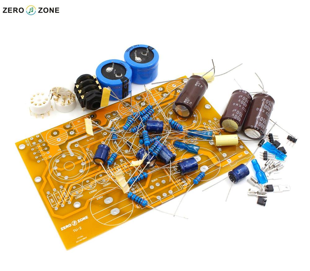 GZLOZONE TU-2 Modified WCF 6N2+6N6 / 6922 Tube Headphone Amplifier Kit Without Tubes + ALPS Potentiometer