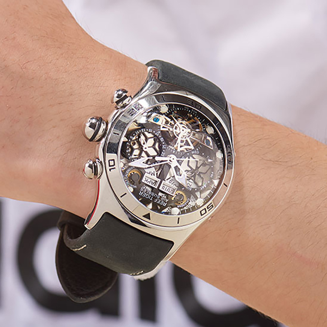 Reef Tiger/RT Mens Sport Watches Automatic Skeleton Watch Steel Waterproof Tourbillon Watch with Date Day reloj hombre RGA703 Accessories Jewellery & Watches