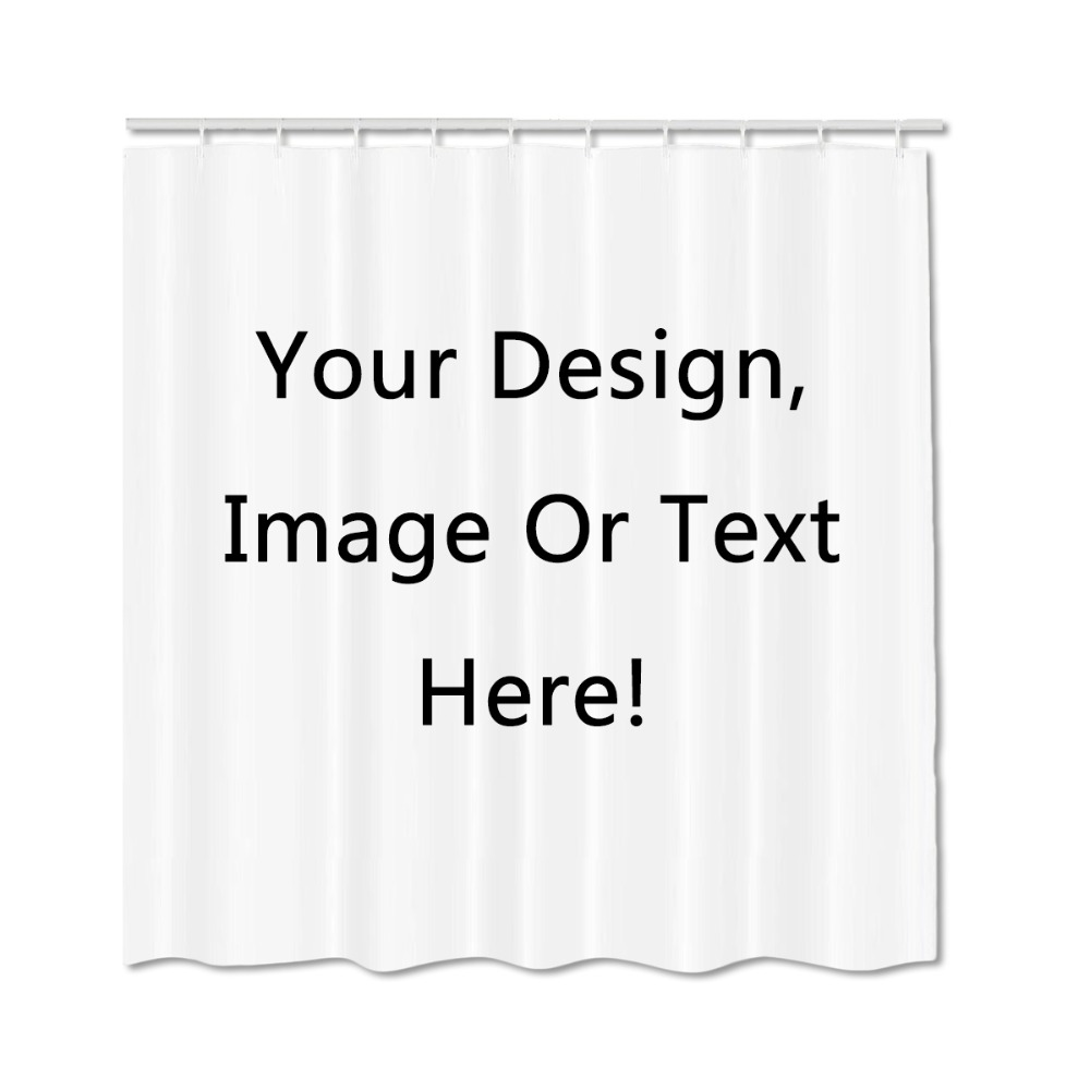 Személyre szabott zuhanyfüggöny Testreszabott szolgáltatások Privát kép Szöveg Kiváló minőségű poliészter zuhanyfüggönyök Otthoni fürdőszoba függöny