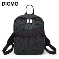 DIOMO 2018 New Arrival Women Backpack Luminous Shining Geometric Triangle Small Daypack for Girls Bagpack rugzak