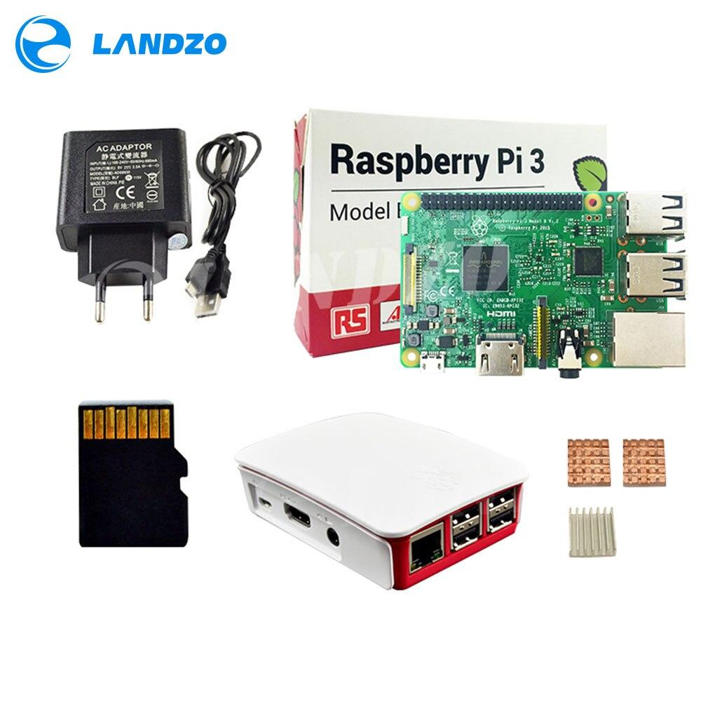 H Raspberry Pi 3 Modelo B Starter Kit-PI 3/PI 3 Caso/Fuente de alimentación europeo /16G memoria/disipador de calor