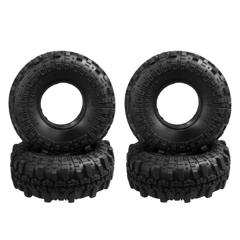 1 Set 110mm 1.9 Inch RC 1/10 Rubber Tyres Tires for 1:10 RC Rock Crawler Wheels SCX10 RC4WD D90 D110 Black 1 10 rc crawler 1 9 rubber tires