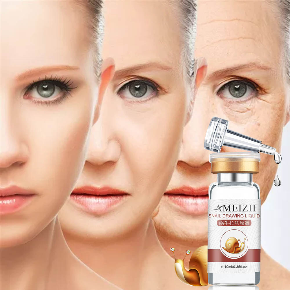 Ameizii Snail Essence Hyaluronic Acid Serum Moisturizing Whitening Lifting Firming Essence Anti-Aging Face Skin Care RepairTSLM1