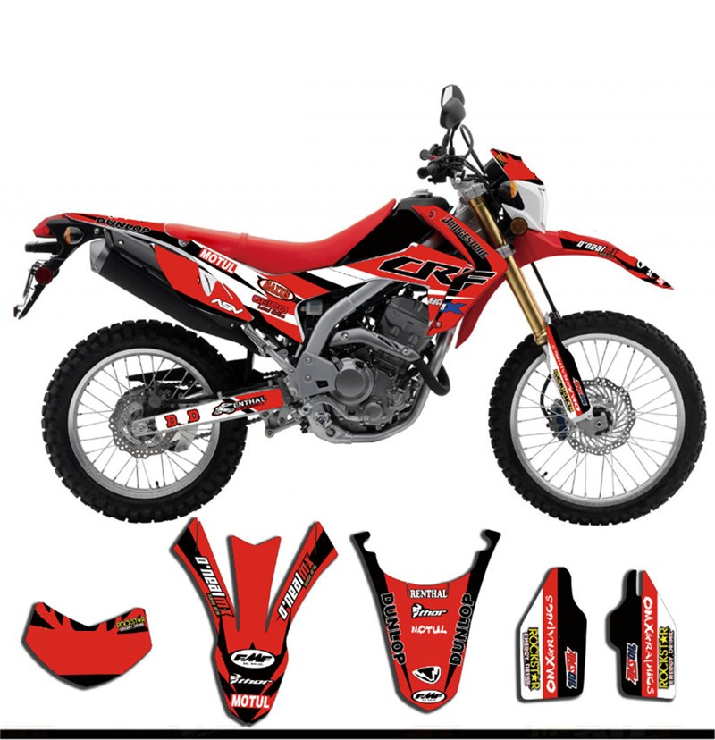 Customized Number Gloss GRAPHICS Complete Set DECAL STICKER for Honda CRF250L 2010 2011 2012 2013 2014