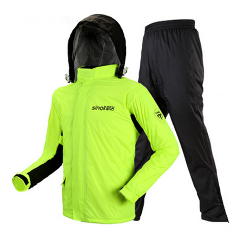 Haute qualité double imperméable imperméable à l'eau, pantalon de pluie, moto imperméable veste de pluie poncho imperméables hommes et femmes