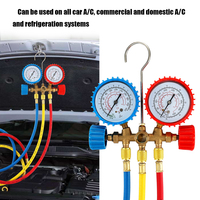 CT 536 Refrigerant Manifold Gauge Set Air Conditioning Tools with Hose and Hook for R12 R22 R404A R134A