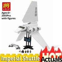 LELE Star Plan 35005 Imperial Shuttle Set with figures Building Blocks Brick toy Model kit Legoinglys wars 10212 Christmas gift