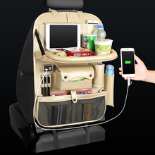 4 USB Charger Phone Pad Chair Storage Car Back Seat Bag Folding Table Organizer Bags  Pocket Box Travel Stowing Tidying
