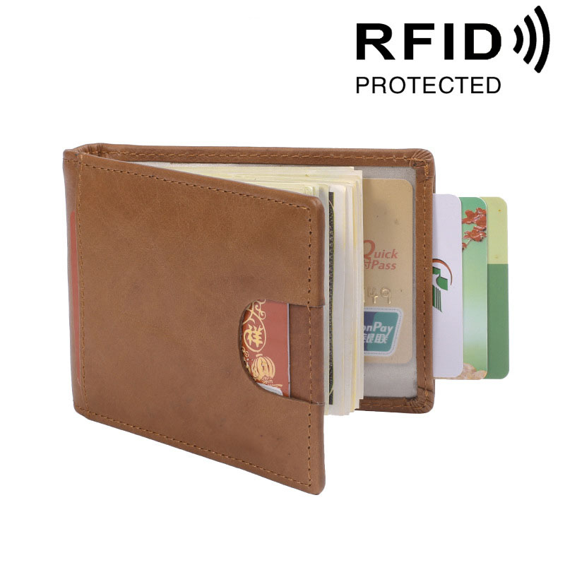 5cf423ff71c6 Artmi Mens RFID Wallet Excellent Leather Bifold Wallet Credit Card  Protector Money Clip Men Front Pocket Wallet