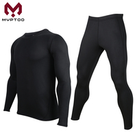 Motorcycle Men's Base Layer Fleece Lined Thermal Underwear Set Skiing Winter Warm Long Johns Shirts Top Bottom Suit Compression