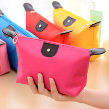 2016 Casual toilet bag zipper cosmetic case make up box suitcase for cosmetics wash holder organizer necessaire Pouch women girl