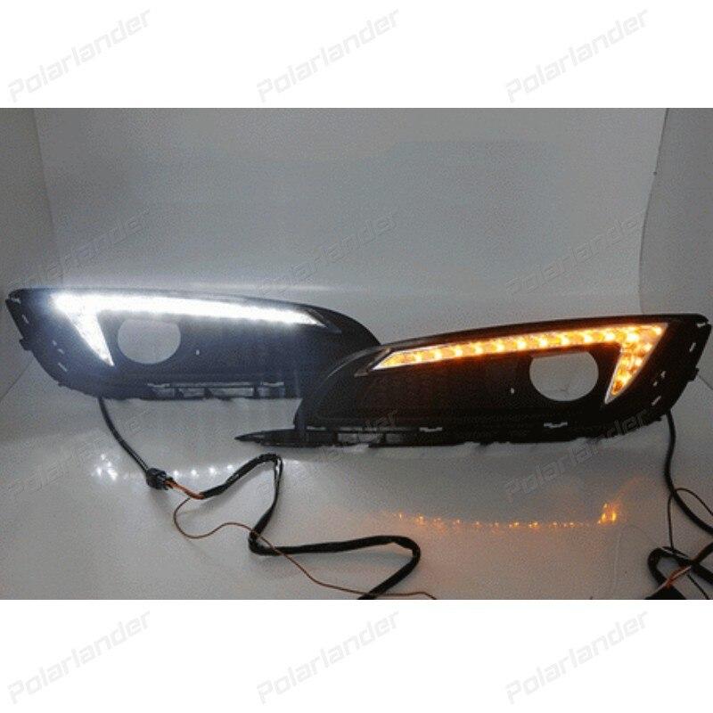 1 set LED DRL Car daylight Daytime Running Lights For B/uick R/egal 2013 2014 2015 fog lamps