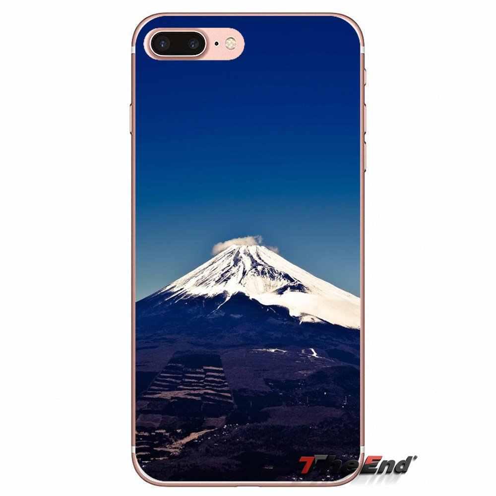 Para Huawei Honor 5A LYO-L21 Y6 II compacto Y5 2 Y5II Mate 10 Lite Nova 2i 9i Fundas TPU transparente funda bolsa soporte japonés fuji