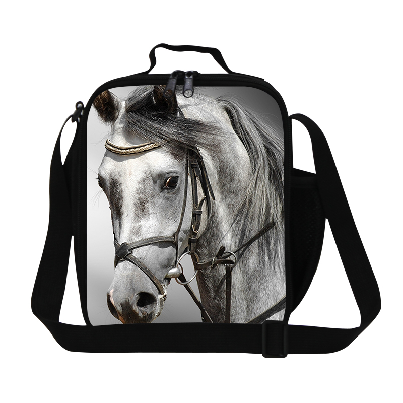 Dispalang Horse 3D Printing Children Food Bag Mean Small Storage Box Baby Snack Bags Portable Lunch Bag Kids Packing Picnic Bags