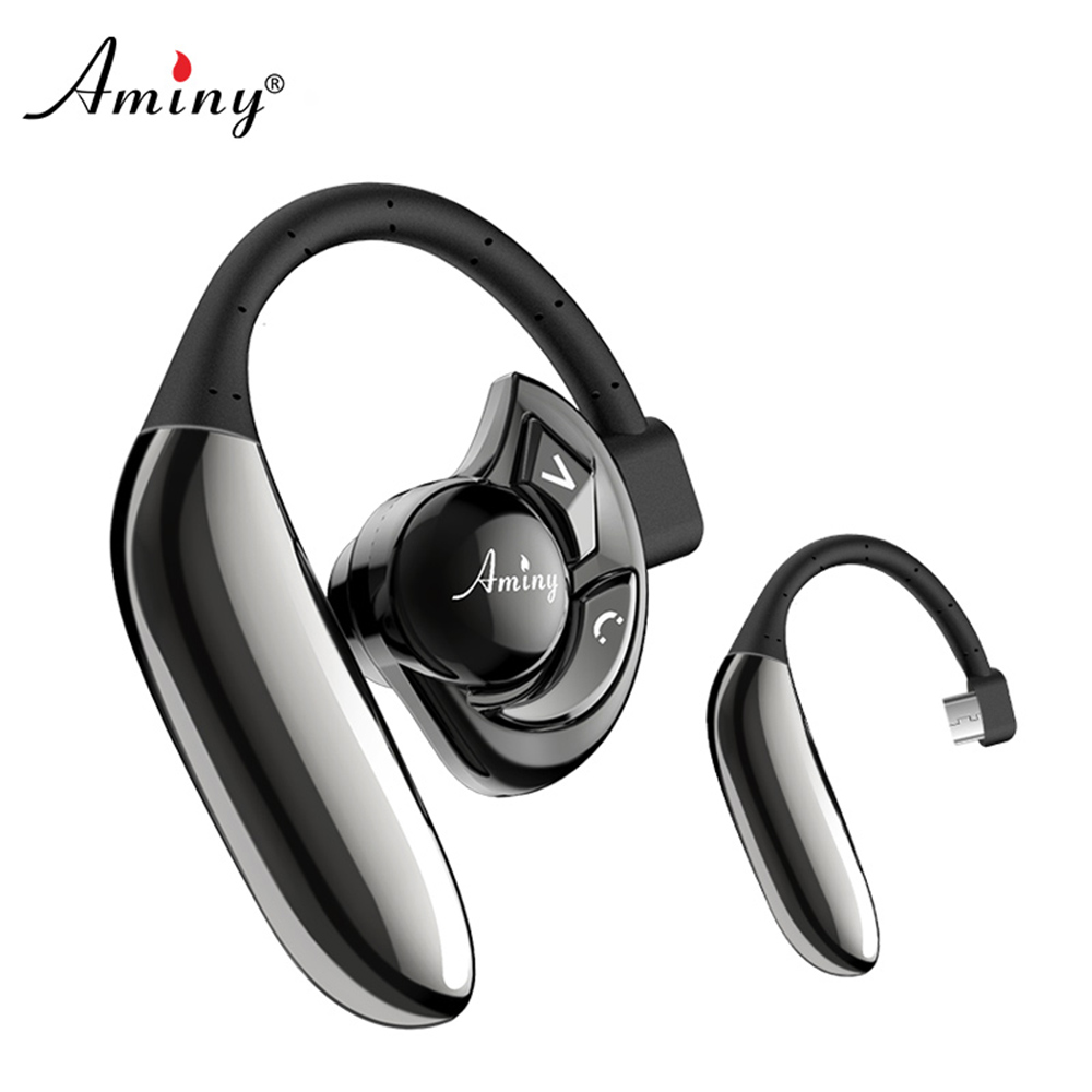 Aminy Bluetooth Headphones V4.2 Car Handsfree Bluetooth Headset with Mic Cell Phone Noise Cancelling Wireless Earphones ipx8 bluetooth earphone mp3 bluetooth headphones wireless earphones airpods handsfree ear noise cancelling fone de ouvido