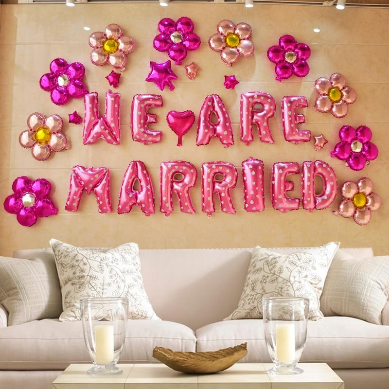 Wedding room layout creative balloon, birthday party wedding ...
