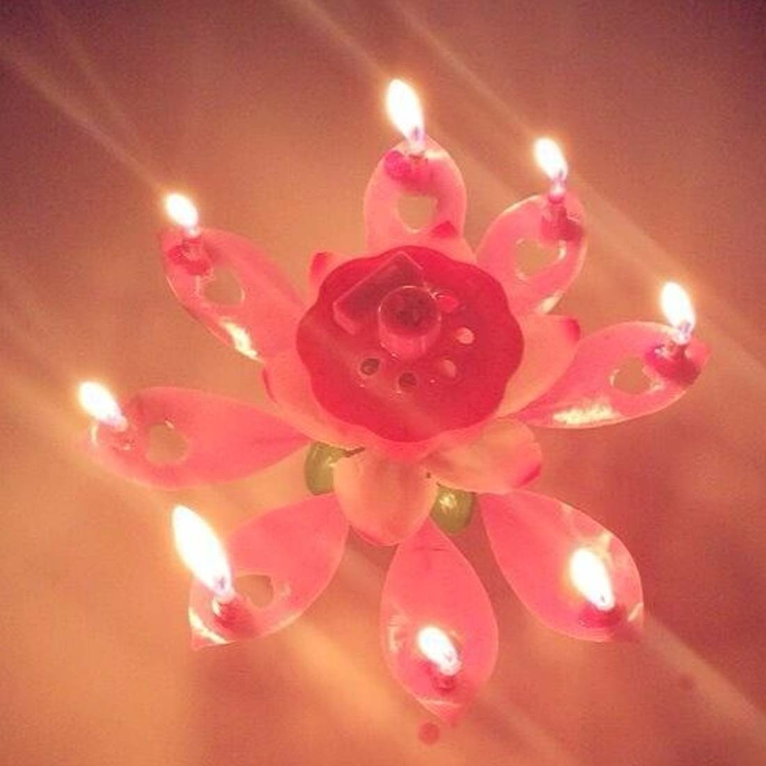 1pcs Fashion Musical Flower Music Candles Lotus Flower Candle
