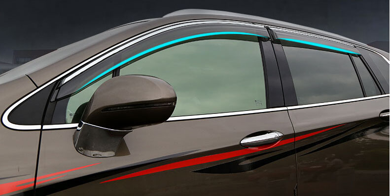 Auto rain shield window visor car window deflector sun visor covers stickers 8