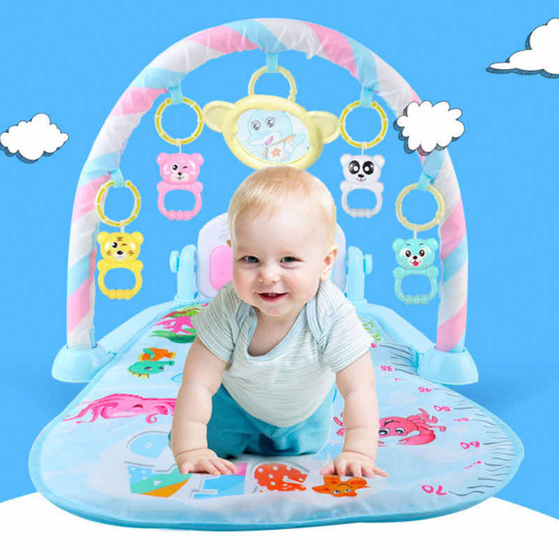 Baby Fitness Racket Piano Toy Soft Detachable Baby Climbing Mat Pedal Rocking Chair Children Fun Music Toy