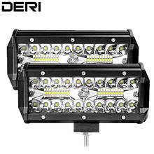2pcs 7 Inch 120W Combo Beam Led Work Light Bar for Work Driving Offroad Boat Car Tractor Truck 4x4 SUV ATV 12V 24V Car styling цена и фото