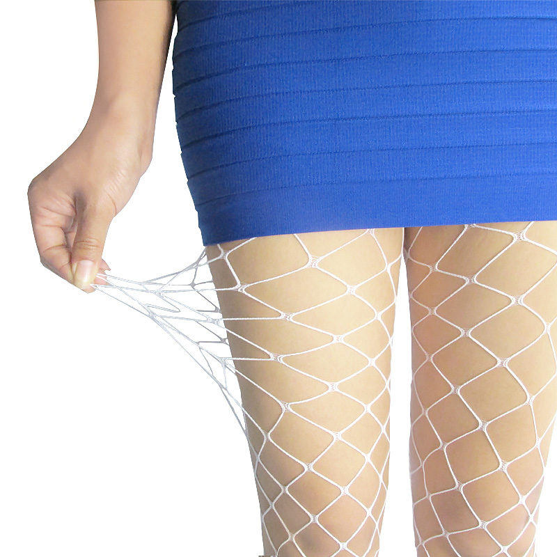 Lady Women Sexy Pantyhose Mesh Fishnet Nylon Tights Long Stocking Jacquard Step Foot Seam Pantyhose Stockings Lingerie Hosiery
