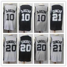 d61567aef1f 2019 New  10 Demar DeRozan  20 Manu Ginobili  9 Tony Parker  21 Tim Duncan  Basketball Jersey All Size Embroidery Stitched