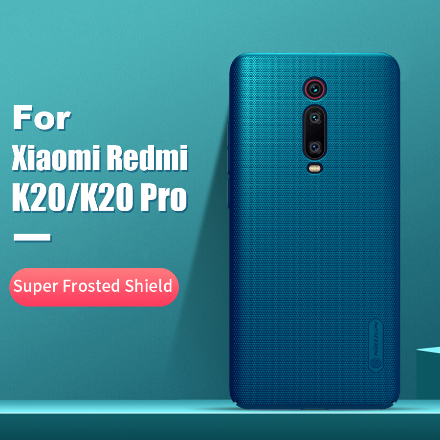 For xiaomi redmi k20 pro case cover 6.39 NILLKIN Frosted PC Matte hard back cover Gift Phone Holder Redmi K20 Mi 9T 9T Pro Case