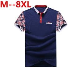 10XL 9XL 8XL 6XL 2017 New Men POLO Shirt Fashion Flower Print Polo Homme Slim Fit Short-sleeve Camisa Polo Men Summer Tops&Tees