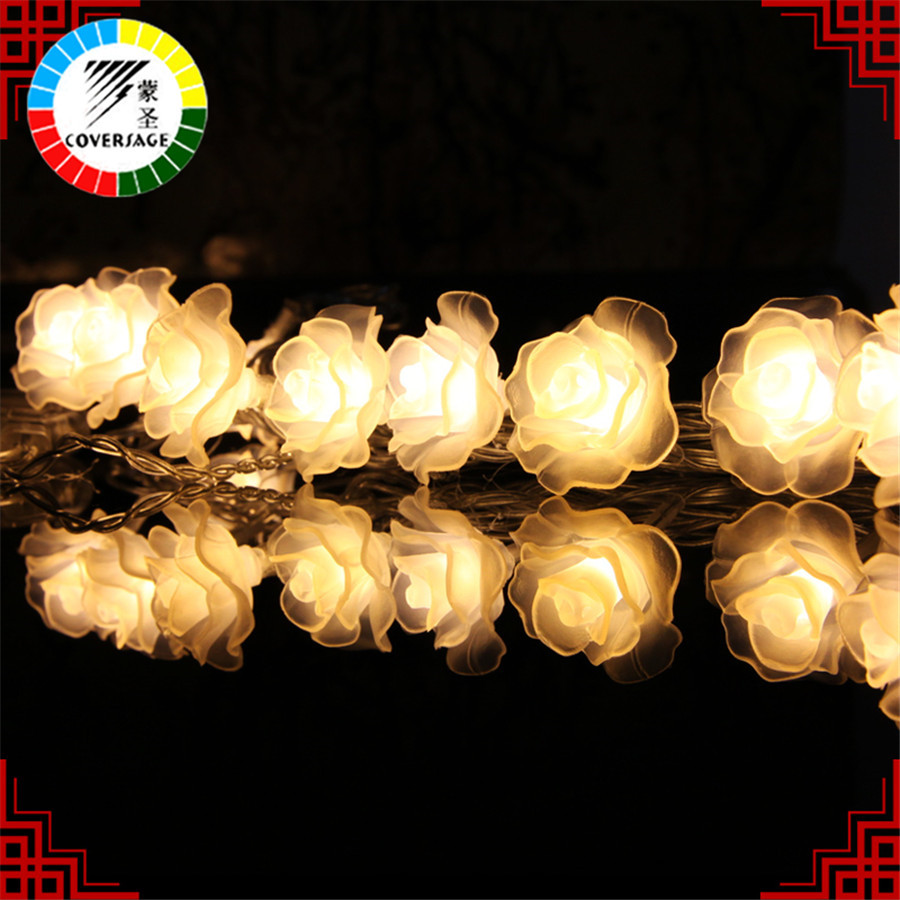 Купить с кэшбэком Coversage 10M 100 Led String Garland Christmas Tree Rose Flower Fairy Light Luce Home Garden Party Outdoor Holiday Decoration