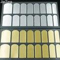 2017 Nueva caliente de La Manera Suave Lámina de Oro Armadura Uñas Pegatina Arte Decoración Patch Etiqueta Wraps profesional