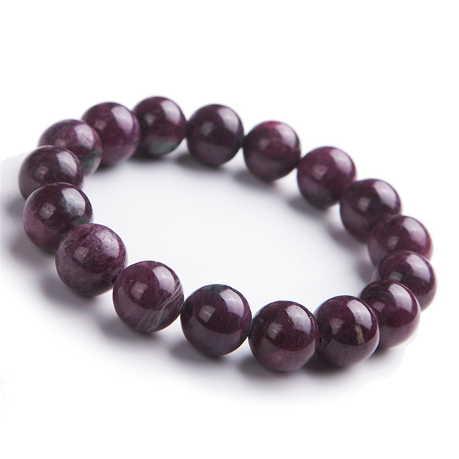 12mm Genuine Natural Ruby Zoisite Gemstone Crystal Bracelets Round Bead Stretch Natural Ruby Bracelet12mm Genuine Natural Ruby Zoisite Gemstone Crystal Bracelets Round Bead Stretch Natural Ruby Bracelet
